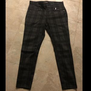 Plaid Skinny Pants